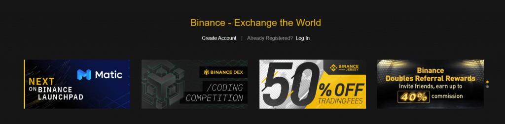 exchange di criptovalute binance