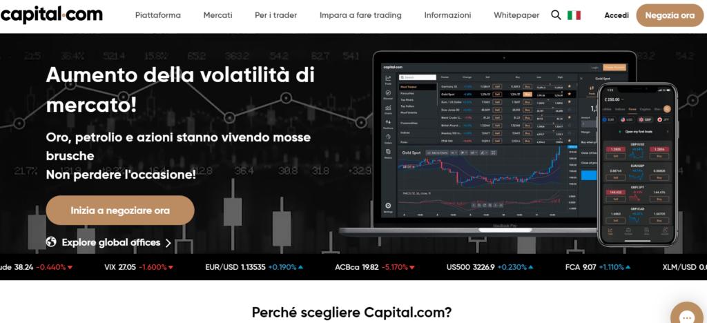 capital.com per comprare criptovalute