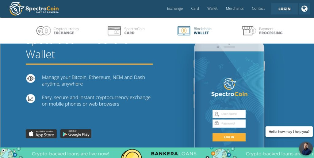 spectrocoin wallet disponibile