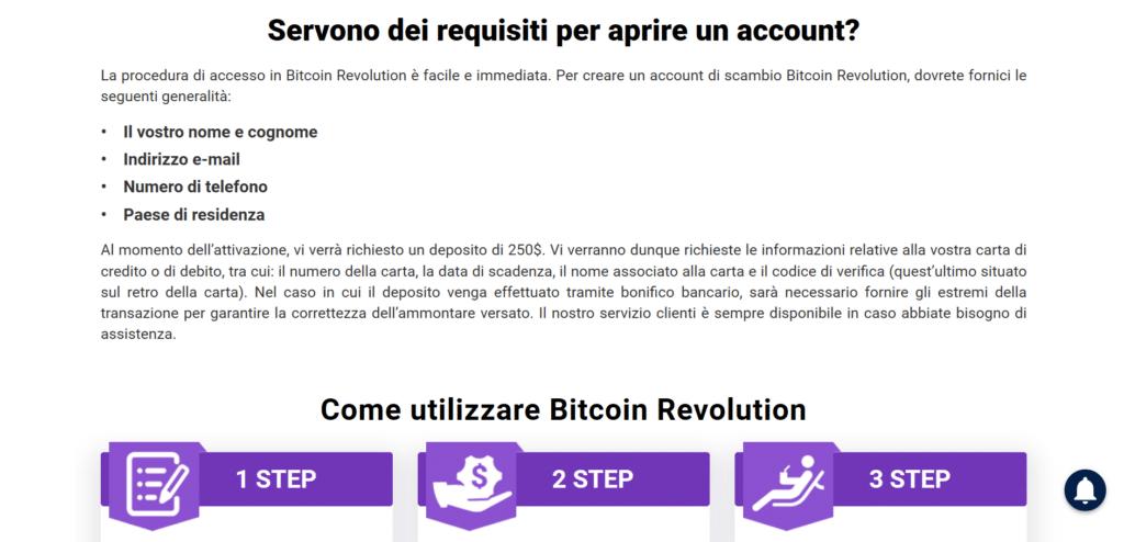 passi apertura conto bitcoin revolution