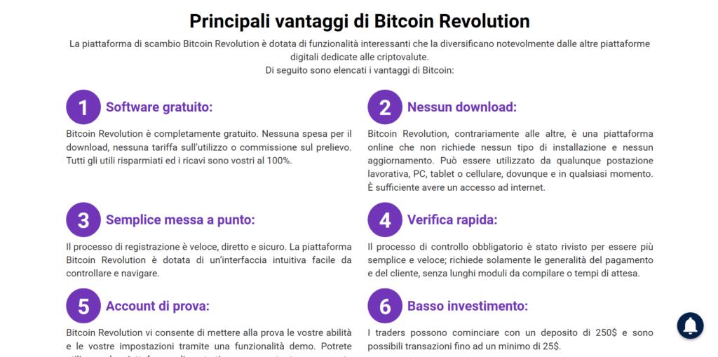 bitcoin revolution vantaggi