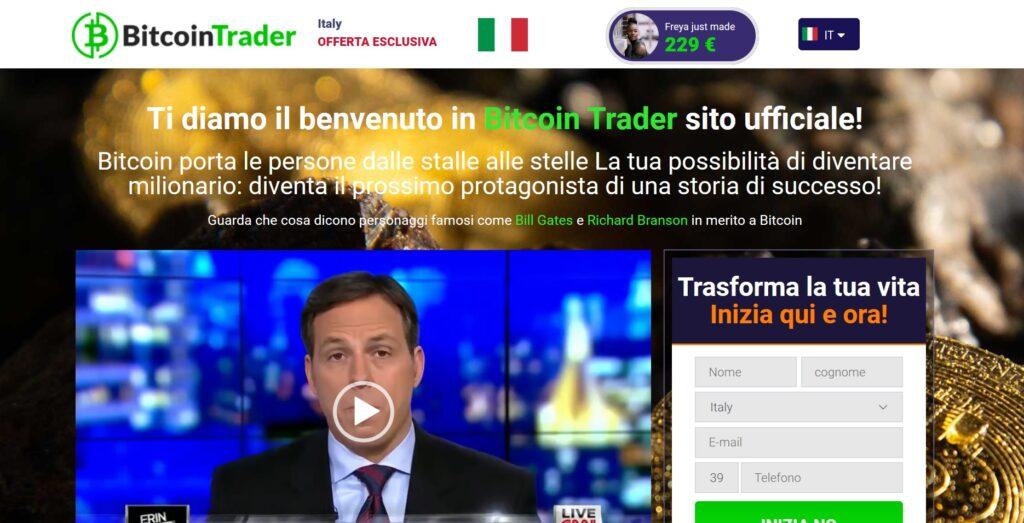 il sito clone di bitcoin trader - clone di altre truffe analoghe