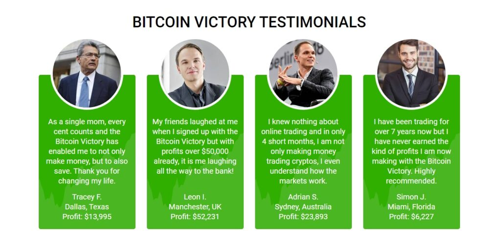 bitcoin victory testimonianze