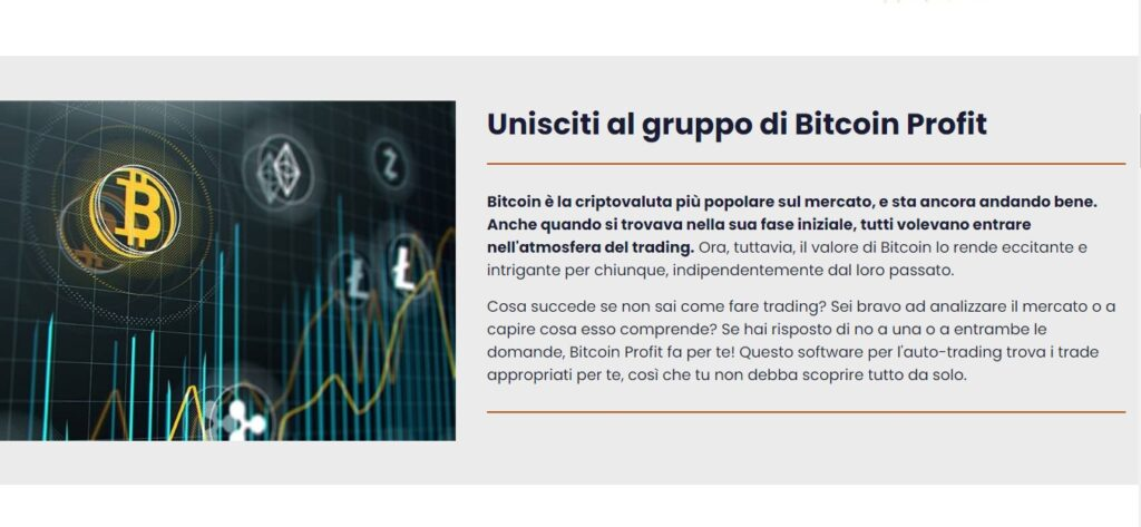 L'invito a unirsi a Bitcoin Profit.