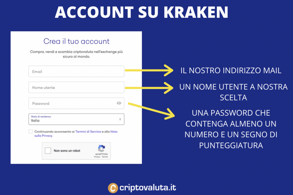 kraken apertura account