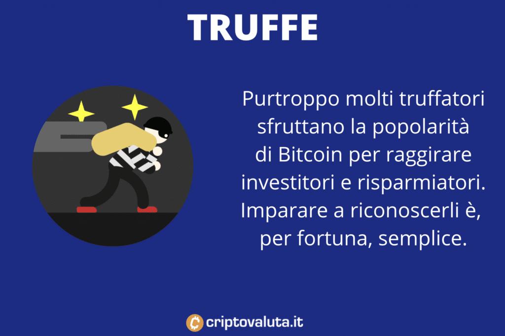 Truffe Bitcoin Infografica
