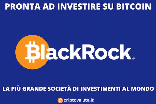 Blackrock investe su BTC