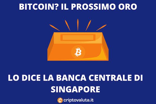 Bitcoin Oro Singapore - La banca centrale ci crede