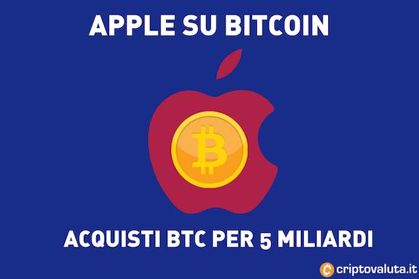 Apple BTC 5 miliardi