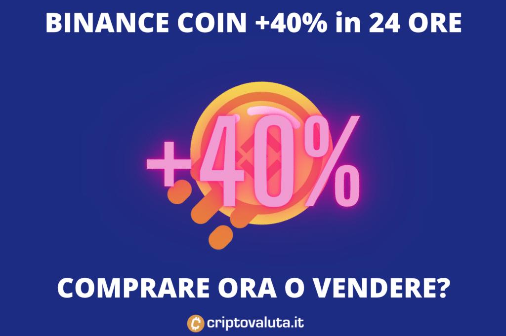 Binance Coin corre da matti - +40% in sole 24 ore