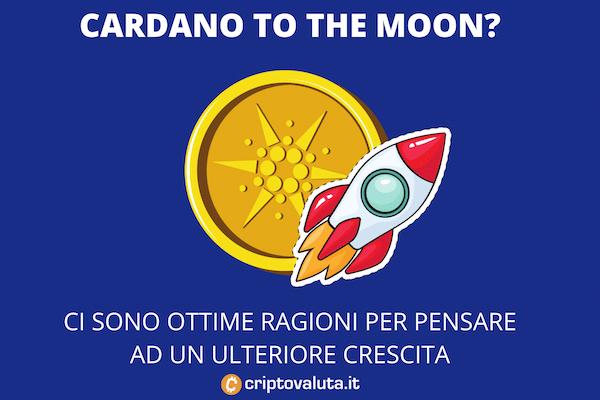 Cardano to the moon - +100% e nessuna intenzione di fermarsi
