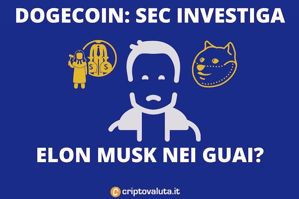 Elon Musk - Doge Coin - SEC che investiga