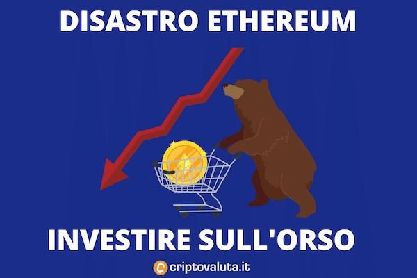 Ethereum orso forte: - 30% in 7 giorni