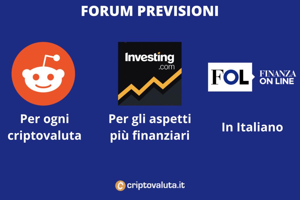 Previsioni cripto - forum - infografica