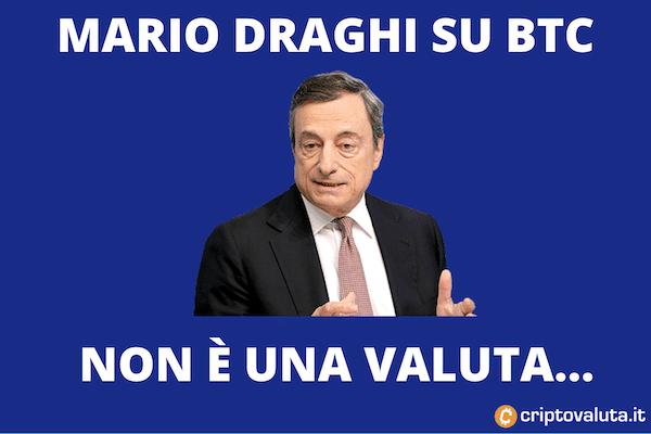 Mario Draghi su BItcoin
