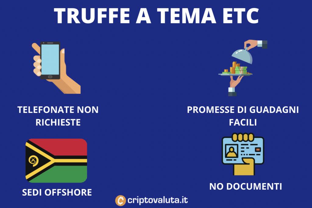 Caratteristiche truffe ETC