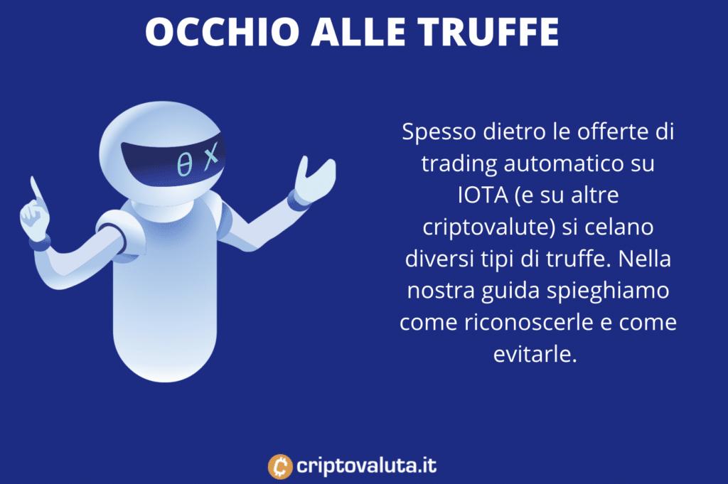 Truffe trading automatico IOTA - infografica