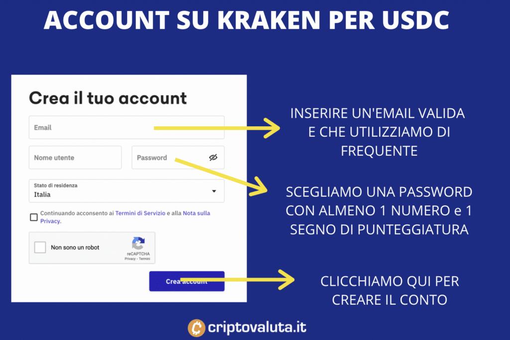 Kraken USDC - apertura account