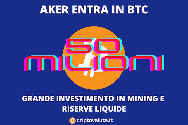 AKER entra su Bitcoin