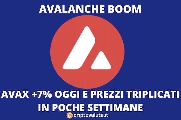 Avalanche boom investimento
