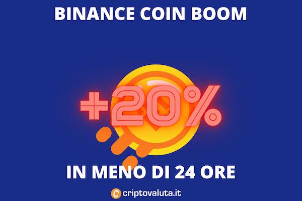 Binance Coin +20%