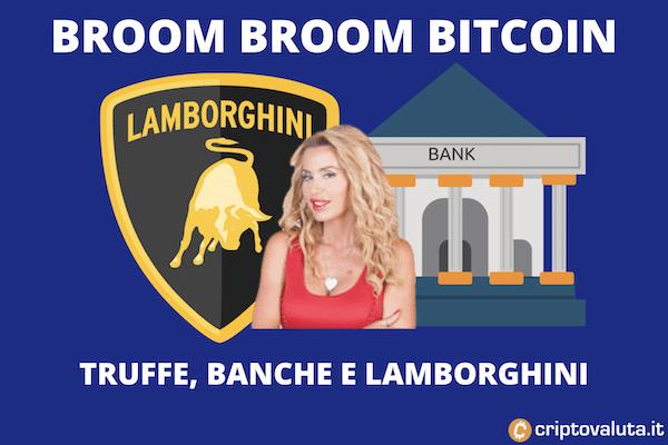 Bitcoin - Valeria Marini, Lamborghini e JP Morgan