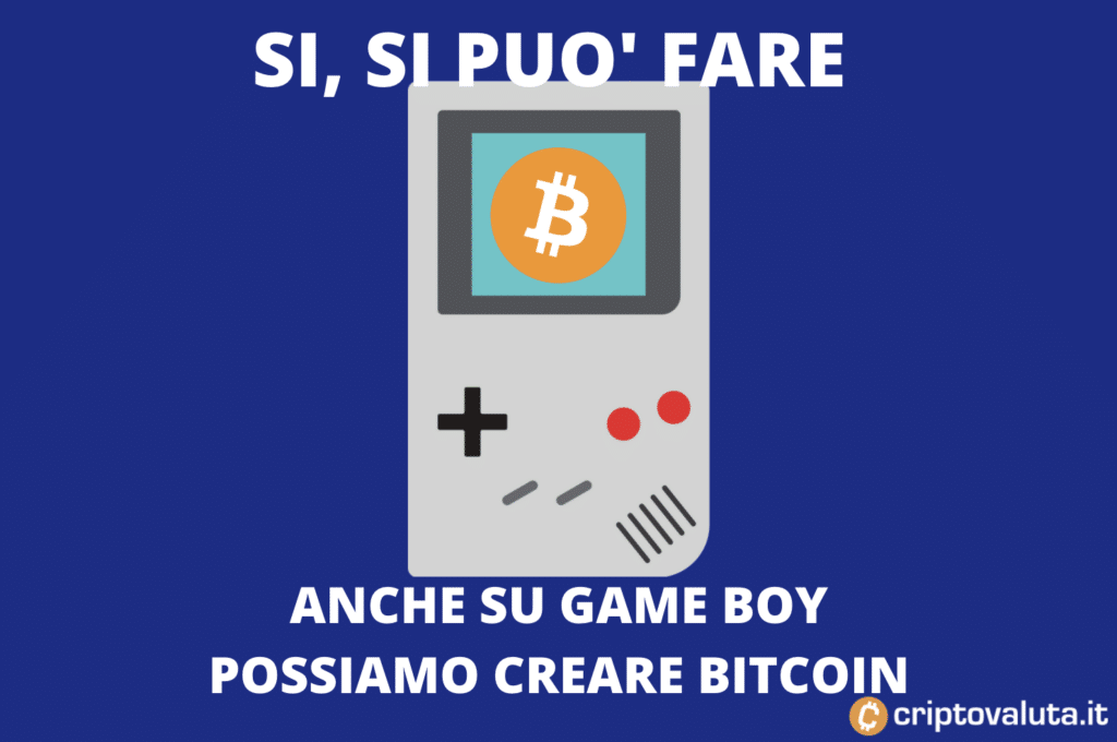 Game Boy mining su Bitcoin