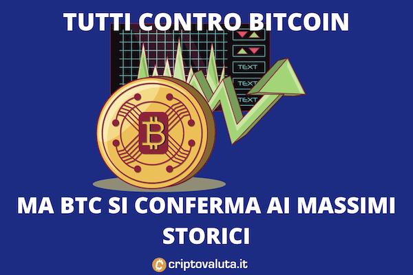 Bitcoin alle stelle, nonostante le critiche