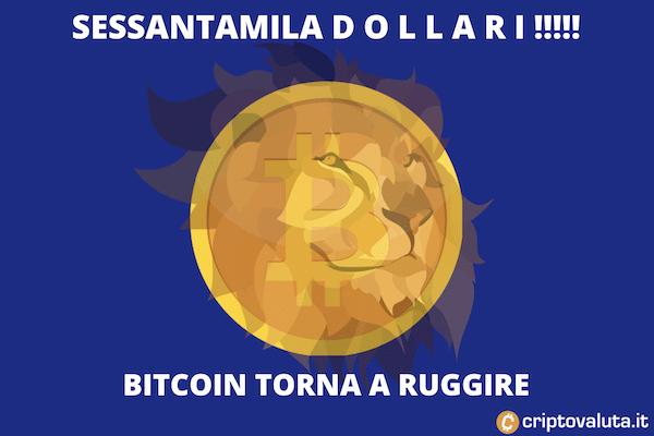 Bitcoin 60000 di nuovo