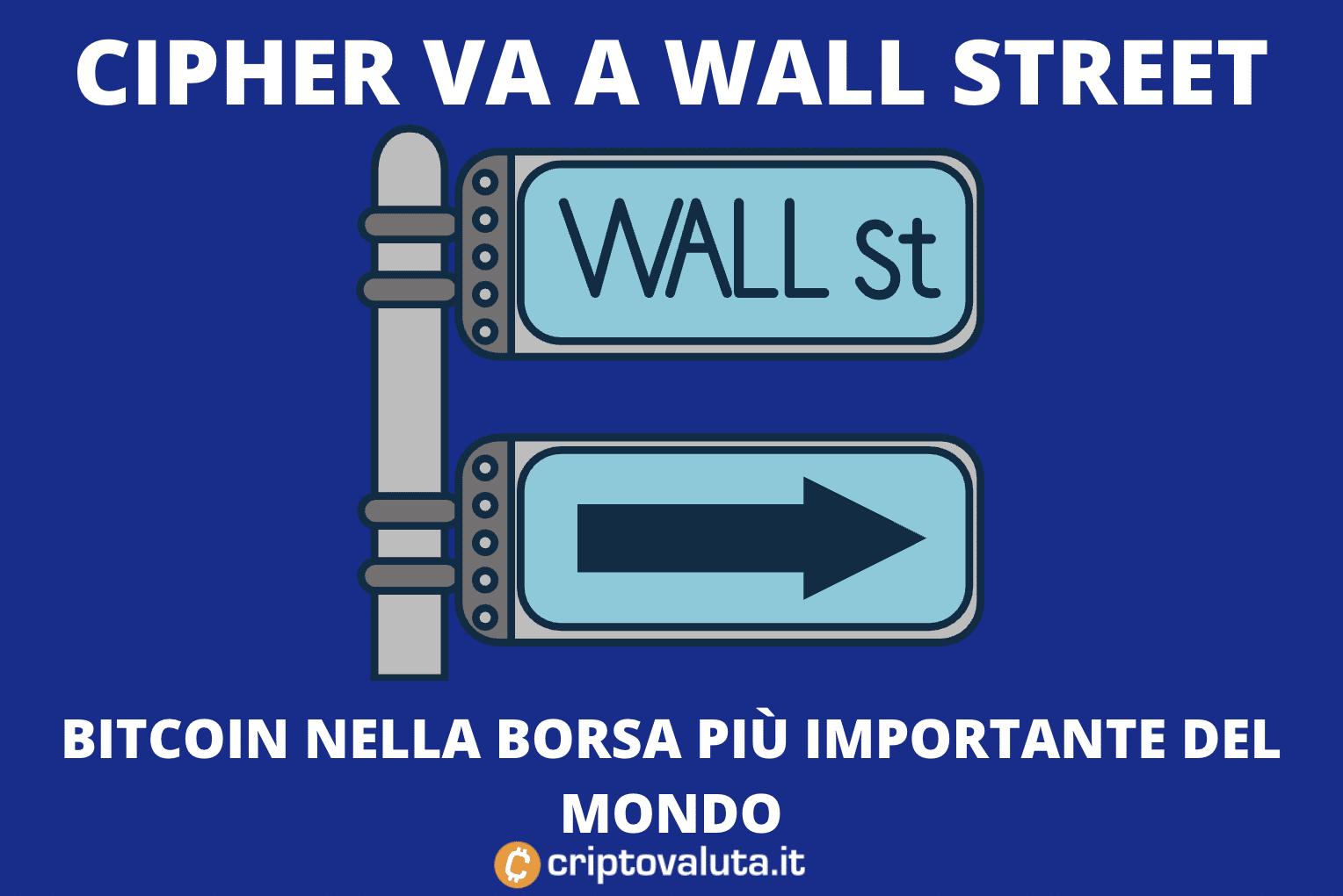 come depositare bitcoin sul mercato wall street)