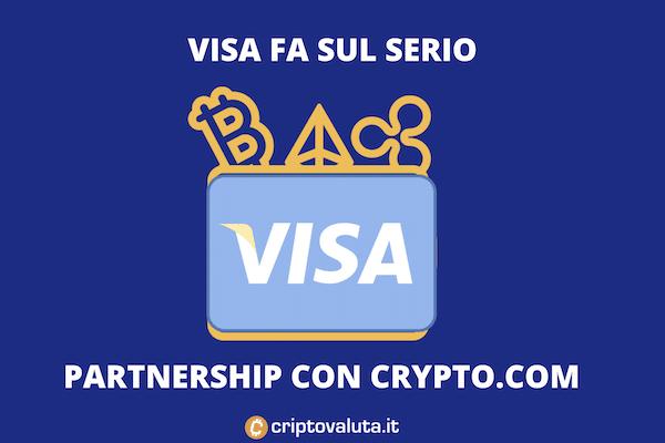 Crypto e VIsa partnership