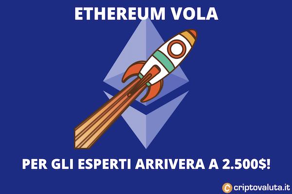 Previsioni al rialzo per Ethereum 2.500 dollari