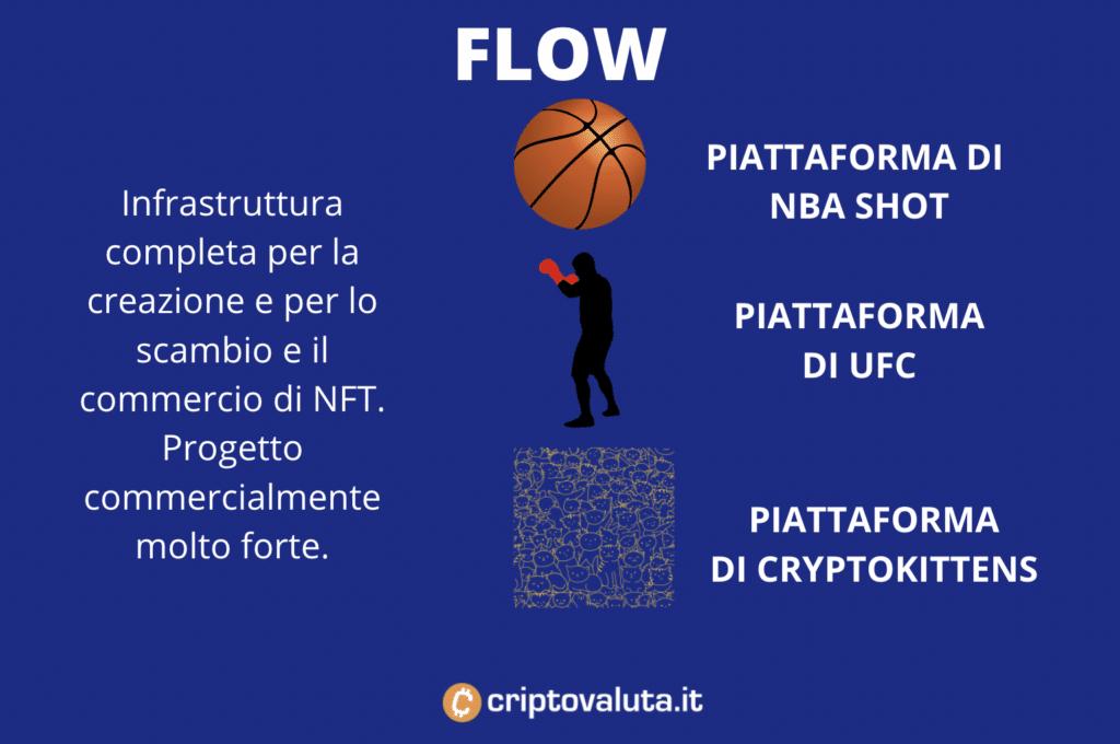 Flow - scheda riassuntiva infografica a cura di Criptovaluta.it