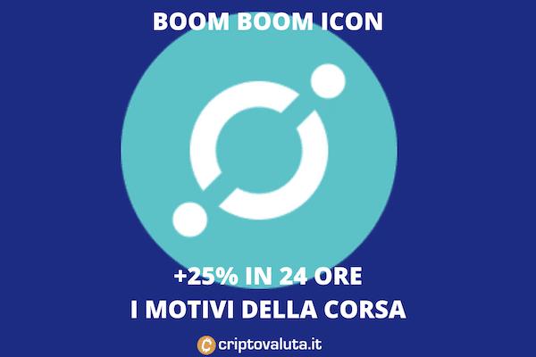 icon boom in 24 ore - i motivi della crescita