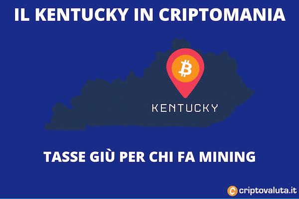 Kentucky tasse cripto