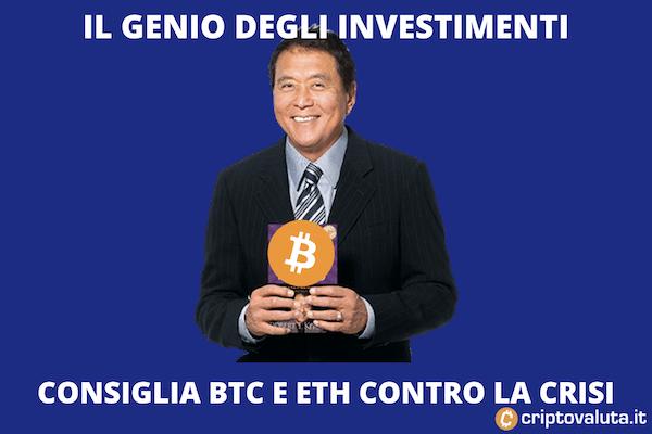 Kiyosaki per Bitcoin ed Ethereum