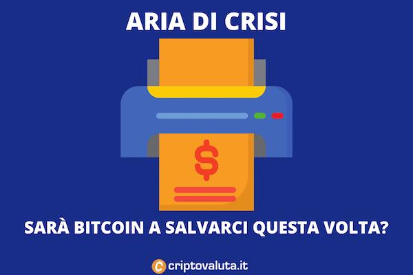 Bitcoin, crisi, inflazione
