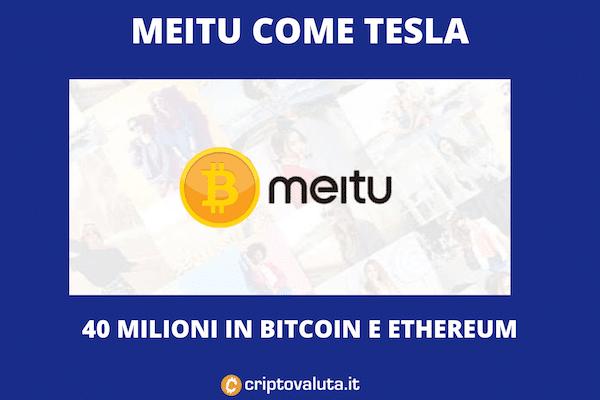Meitu compra Bitcoin e Ethereum