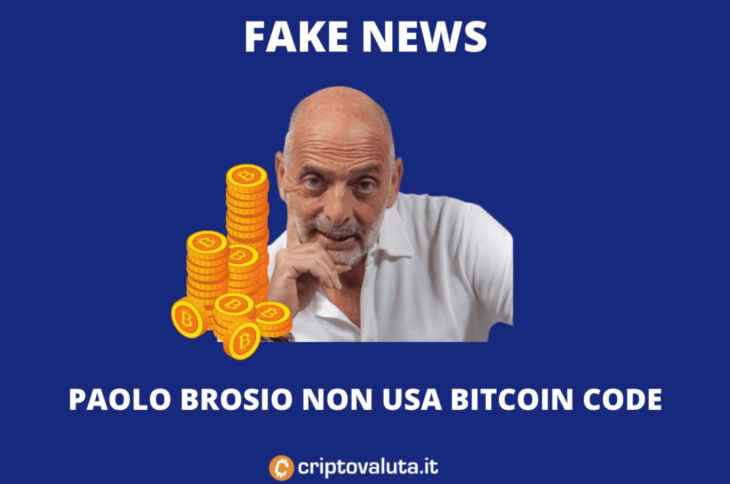 Paolo Brosio Bitcoin Code