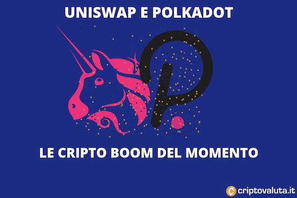 Polkadot / Uniswap - il boom di oggi