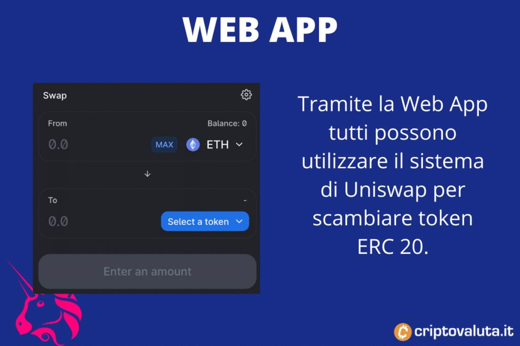 Web App Uniswap