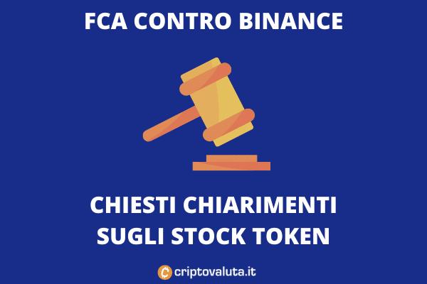 Binance Stock Token sotto accusa
