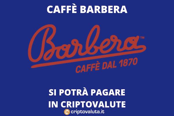 Algorand - Caffè barbera - pagamenti in cripto