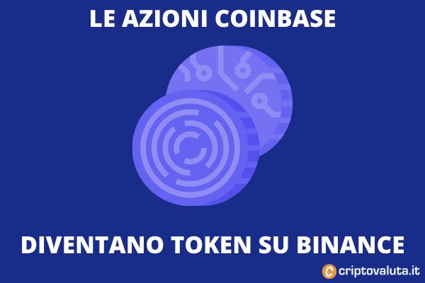Binance quoterà un token che rappresenterà le azioni di Coinbase