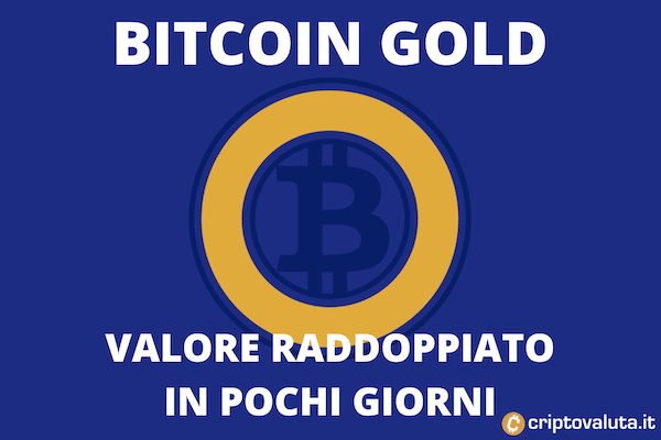 Bitcoin Gold vola - +100% in 7 giorni