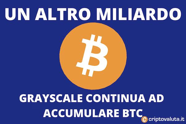 Bitcoin 1 miliardo Grayscale