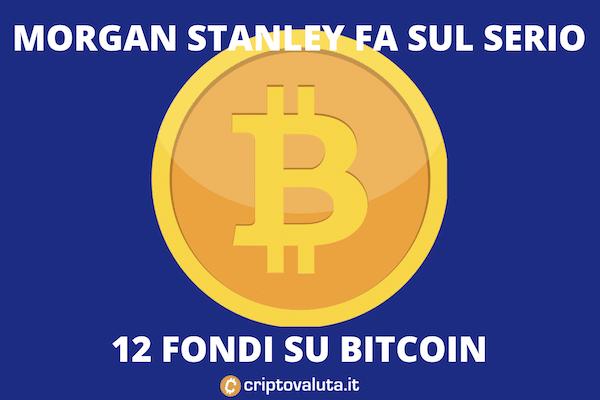 Bitcoin 12 fondi morgan stanley