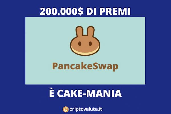 Pancakeswap incredibile corsa - nuovo massimo storico