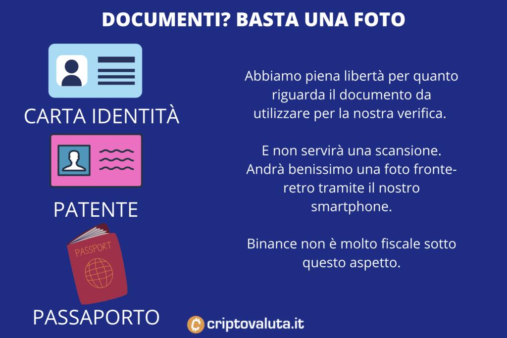 Documenti supportati CAKE Binance - di Criptovaluta.it