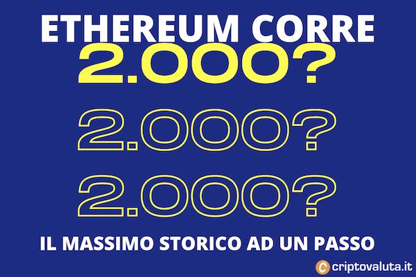 Ethereum corsa verso i 2000